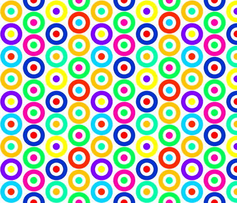 Mod Targets Multi fabric by louiseisobel on Spoonflower - custom fabric