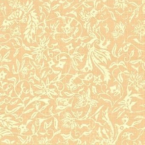 Bird of Paradise French Linen - peach, ivory-ed-ed