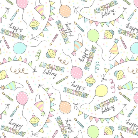 Happy Birthday fabric by alissecourter on Spoonflower - custom fabric