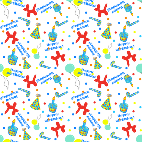 Birthday Party Confetti fabric by arttreedesigns on Spoonflower - custom fabric