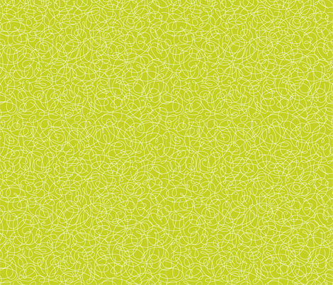 Geek Chapeau SQUIGGLE LIME fabric by gitchyville_stitches on Spoonflower - custom fabric
