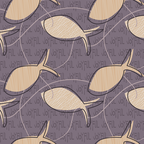 Joyful gesture plum fabric by sheila's_corner on Spoonflower - custom fabric
