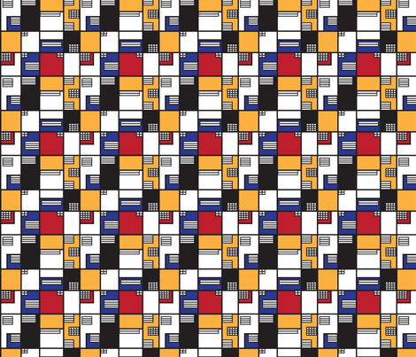 If Mondrian was an Architect - Small fabric by knittingand on Spoonflower - custom fabric