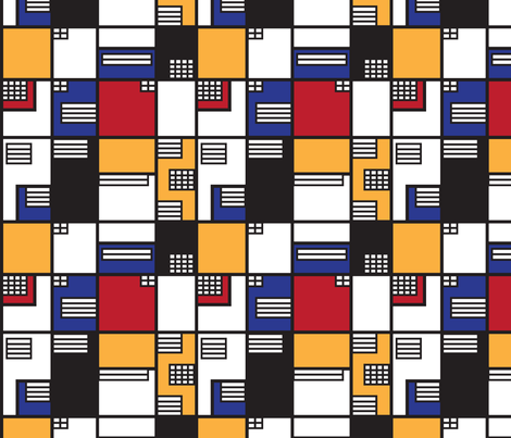 If Mondrian was an Architect - Medium fabric by knittingand on Spoonflower - custom fabric