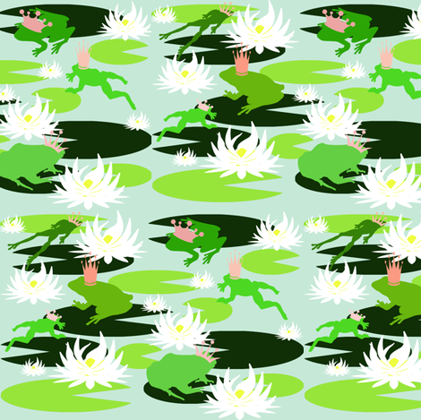 Frog Prince fabric by graceful on Spoonflower - custom fabric