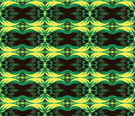 Roads Green and Yellow fabric by mikep on Spoonflower - custom fabric