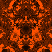 This Is Halloween! Haunted  House Damask ~ Nevermore Damask