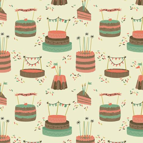 birthday party fabric by pop-printonpaper on Spoonflower - custom fabric