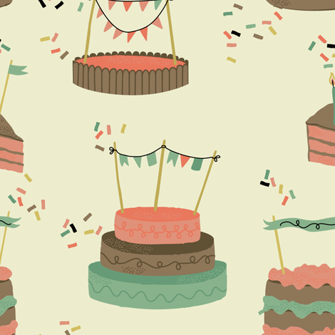 birthday party fabric by pop-printonpaper on Spoonflower - custom fabric