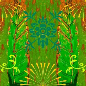 Abstract51-green/brown