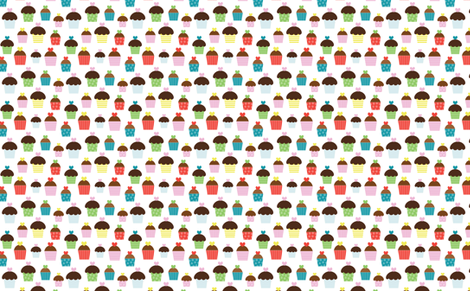 Birthday_Cupcakes fabric by creativitybycrystal on Spoonflower - custom fabric