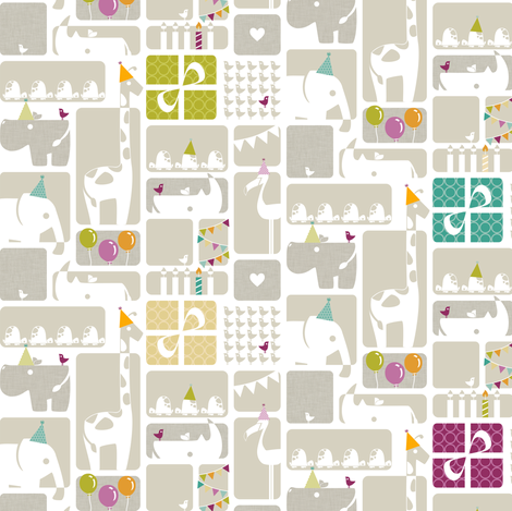 Party Animals fabric by ttoz on Spoonflower - custom fabric