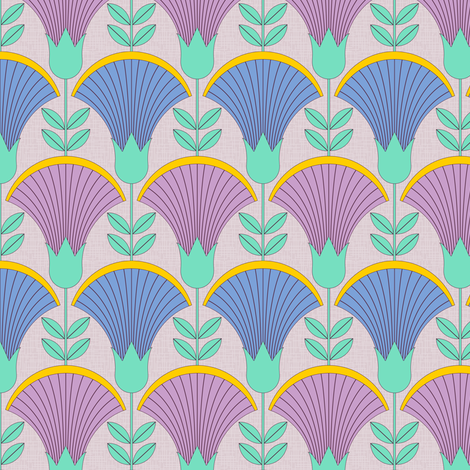 Along the Nile (small) fabric by jjtrends on Spoonflower - custom fabric