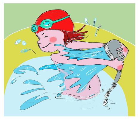Splashing fun fabric by els_vlieger_illustrations on Spoonflower - custom fabric