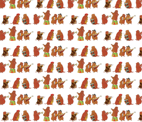 Marmot's band fabric by els_vlieger_illustrations on Spoonflower - custom fabric