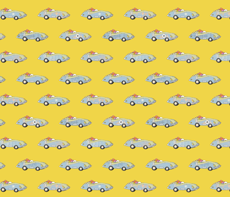 Race cars fabric by els_vlieger_illustrations on Spoonflower - custom fabric