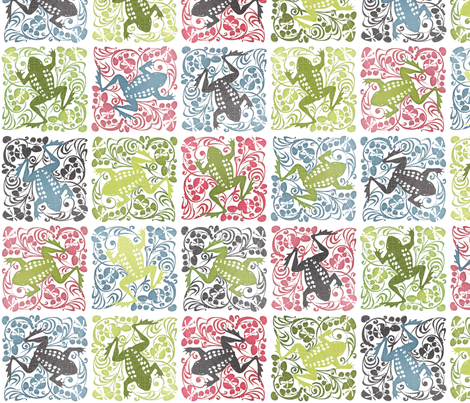 Dancing Frog fabric by spellstone on Spoonflower - custom fabric