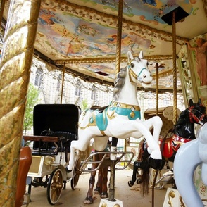White Horse on Carousel