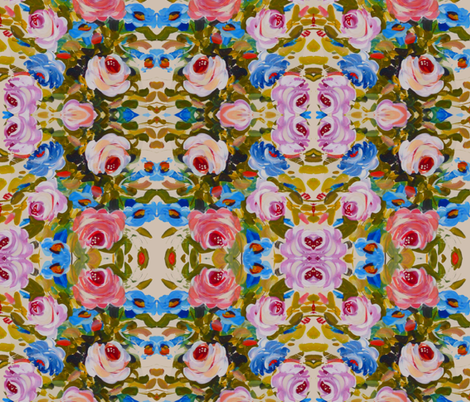 Carousel Flowers 1 fabric by susaninparis on Spoonflower - custom fabric