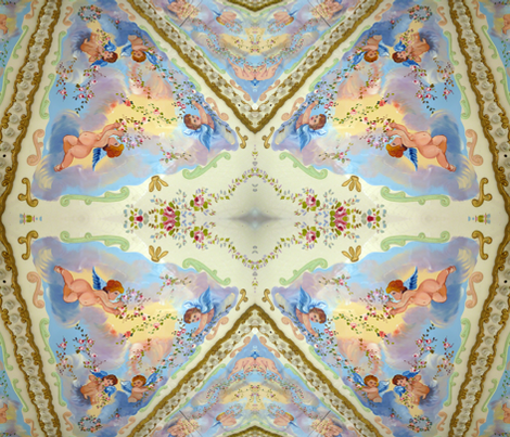 Cherubs on High fabric by susaninparis on Spoonflower - custom fabric