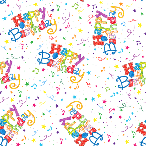 Happy Birthday fabric by holladay on Spoonflower - custom fabric