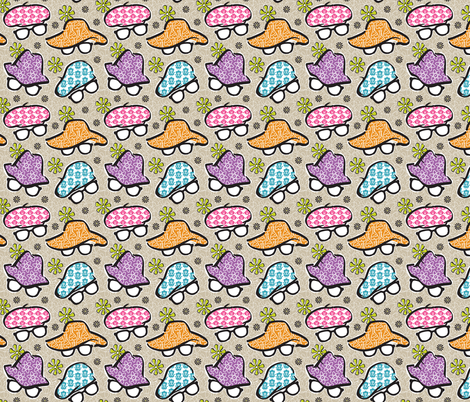 Geek Chapeau Smaller Scale fabric by gitchyville_stitches on Spoonflower - custom fabric