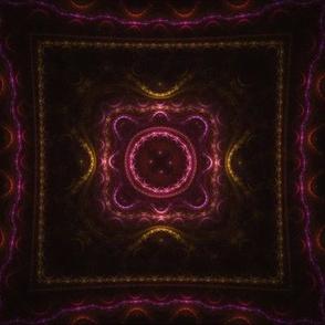 Square Fractal - Magenta and Orange