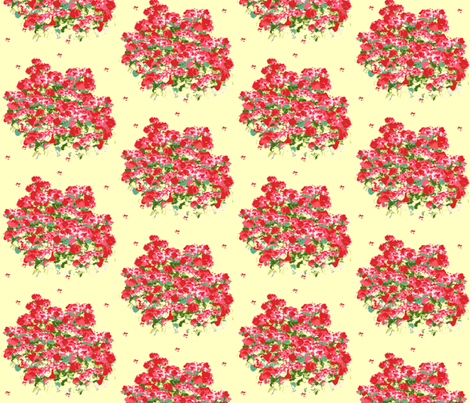 Fields of Geraniums Two fabric by karenharveycox on Spoonflower - custom fabric