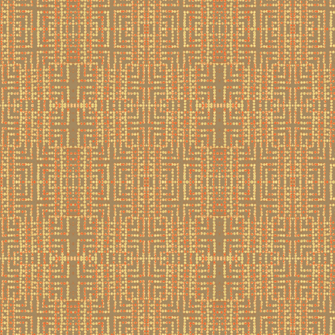 edo bead - taupe, salmon, yellow fabric by materialsgirl on Spoonflower - custom fabric