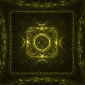Square Fractal - Yellow