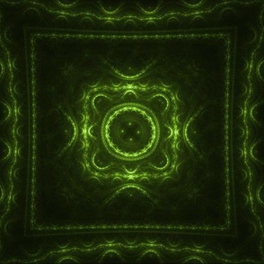 Square Fractal - Bright Green