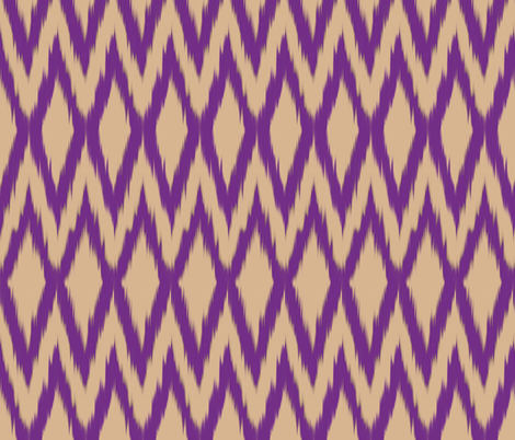 Purple Diamond Ikat fabric by fable_design on Spoonflower - custom fabric