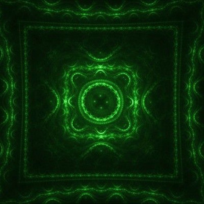 Square Fractal - Green