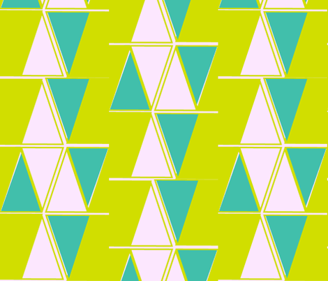 Vintage triangles fabric by fable_design on Spoonflower - custom fabric