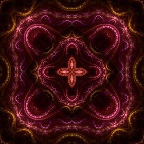 Square Fractal 2 - Red and Orange