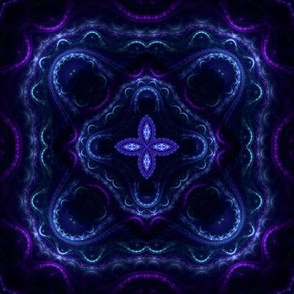 Square Fractal 2 - Blue and Purple