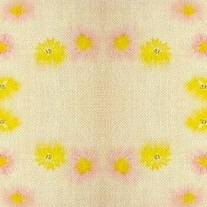 """Daisy Chain """"Faux Quilt"""" - Burlap/Vintage"""