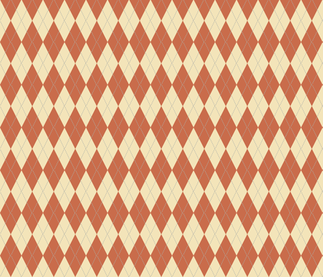 Argyle_Terra_Cotta fabric by lana_gordon_rast_ on Spoonflower - custom fabric
