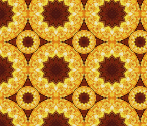 Kaleidoscope 4 - Bacon and Eggs fabric by serendipitymuse on Spoonflower - custom fabric