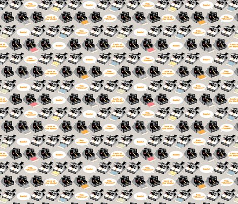 Say Cheese! (Gray) fabric by pennycandy on Spoonflower - custom fabric