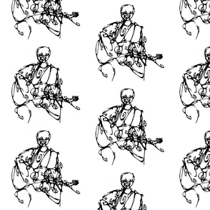 Inkblot Guitar Player I
