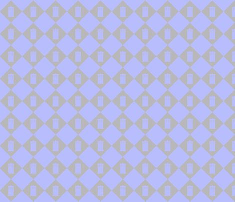 Harlequin Blue Box_gray_lg fabric by morrigoon on Spoonflower - custom fabric