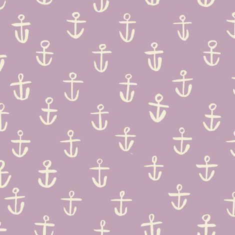 Lilac_Anchors fabric by gsonge on Spoonflower - custom fabric