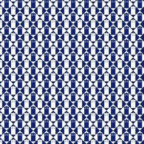 Harlequin Blue Box blue and white_s-m