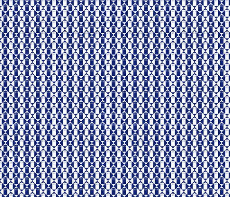 Harlequin Police Box blue and white_med fabric by morrigoon on Spoonflower - custom fabric