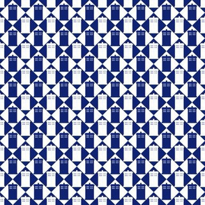 Harlequin Police Box blue and white_med