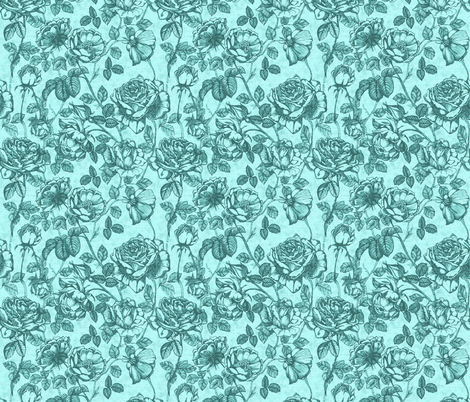 Toile_de_Jouy_verde fabric by kirpa on Spoonflower - custom fabric