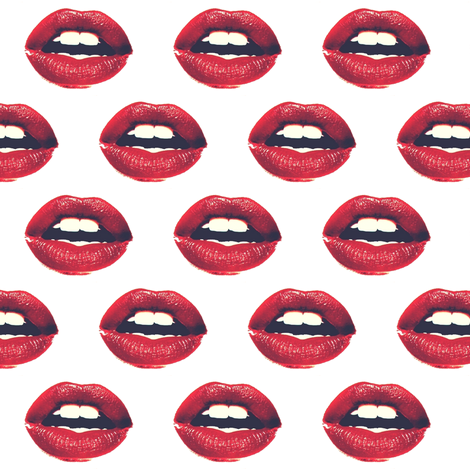Red Lips Fabric
