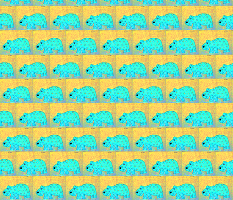 Heather Hippo fabric by oddgirl on Spoonflower - custom fabric