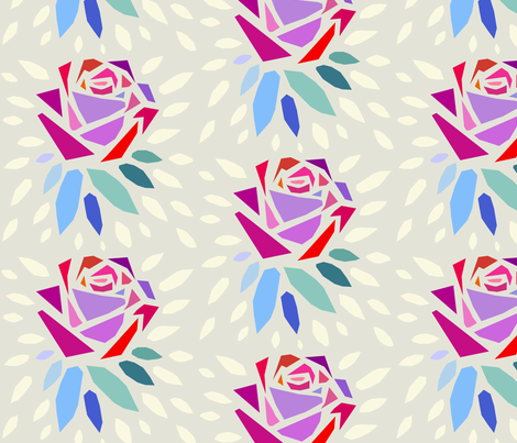 Rose fabric by melbity on Spoonflower - custom fabric